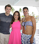 Chad Duell, Kristen Alderson, Kelly Thiebaud donated time at 15th Southwest Florida Soapfest 2014 Charity Weekend - at Cruisin' and Schmoozin' on May 25, 2104 aboard the Marco Island Princess (boat), Marco Island, Florida.  (Photo by Sue Coflin/Max Photos)