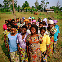 Women with fistula, which they contracted as a result of being brutally raped, living in a segregated community outside Goma. Such is the stigma from this condition that women affected have formed their own villages away from the rest of society. An estimated 400,000 women have been victims of sexual violence during the Democratic Republic of Congo's civil war. In the eastern states of the country a recent peace agreement struggles to keep warring factions from fighting, and as the chaos that accompanies war contines, so does the rape of women in the area. Rape is now so widespread that the medical aid charity, Medecins sans Frontieres, says that 75 percent of all the rape cases it deals with worldwide are in eastern Congo.©Robin Hammond/PANOS/Felix Features