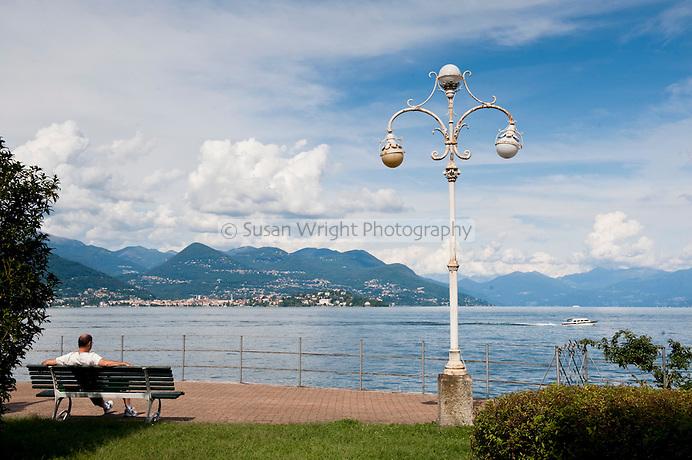 The Promenade of Stresa, Lago Maggiore, Italy