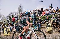 Vittoria Maria Sperotto at the top of the Muur,  16th Ronde Van Vlaanderen<br /> <br /> Elite Womans Race (1.WWT)<br /> <br /> One day race from Oudenaarde to Oudenaarde<br /> ©Jojo Harper for Kramon