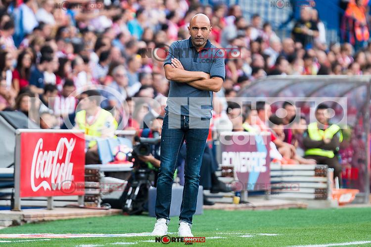 Sporting de Gijon's coach Abelardo Fernández during a match of La Liga Santander at Vicente Calderon Stadium in Madrid. September 17, Spain. 2016. (ALTERPHOTOS/BorjaB.Hojas) /NORTEPHOTO
