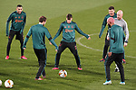 AFC Ajax's Hakim Ziyech, Nicolas Tagliafico, Klass Jan Huntelaar, Ryan Babel and the coach Erik ten Hag during training session. February 19,2020.(ALTERPHOTOS/Acero)