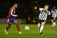 Jon Nolan of Grimsby Town passes the ball during the Vanarama National League match between Aldershot Town and Grimsby Town at the EBB Stadium, Aldershot, England on 5 April 2016. Photo by Paul Paxford / PRiME Media Images.