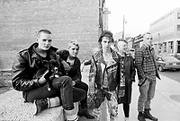 september 25 1987 File Photo - Montreal (Qc) Canada - Punks in Montreal near foufouns electriques (verbal autorization- editorial use only)