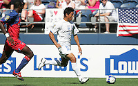 Roger Espinoza dribbles the ball. Honduras defeated Haiti 1-0 during the First Round of the 2009 CONCACAF Gold Cup at Qwest Field in Seattle, Washington on July 4, 2009.