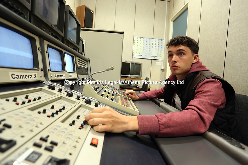 Pictured: A television studio at Trowbridge Campus. Monday 22 September 2014<br />