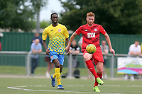 Matt Harrold of Leyton Orient and Elwin Larty of Harlow Town during Harlow Town vs Leyton Orient, Friendly Match Football at The Harlow Arena on 6th July 2019