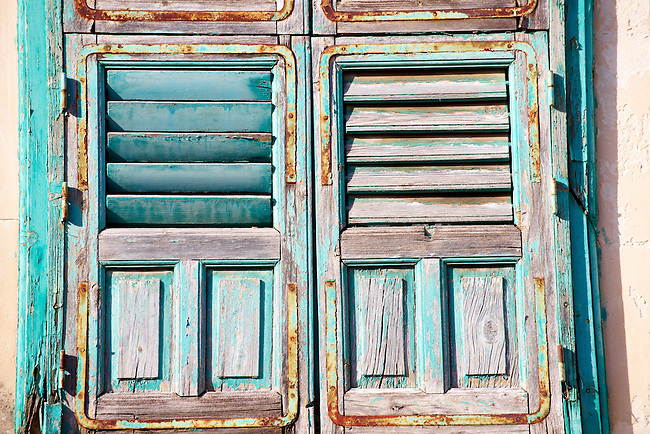 Turquoise shutters, Modica Sicily