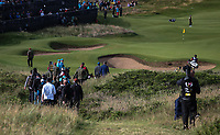 Tiger Woods (USA) heads to the 13th during Round One of the 148th Open Championship, Royal Portrush Golf Club, Portrush, Antrim, Northern Ireland. 18/07/2019. Picture David Lloyd / Golffile.ie<br /> <br /> All photo usage must carry mandatory copyright credit (© Golffile | David Lloyd)