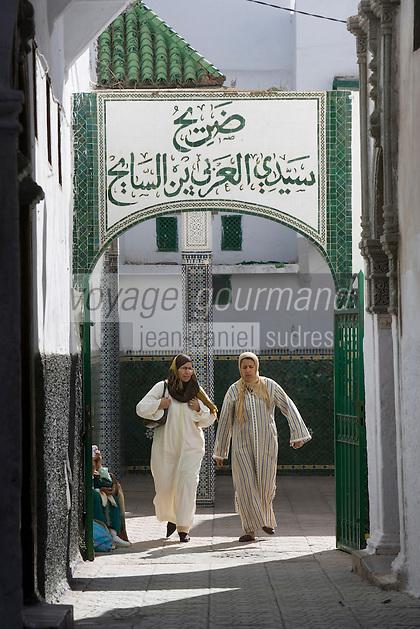Afrique/Afrique du Nord/Maroc/Rabat: dans la médina - femmes dans une ruelle