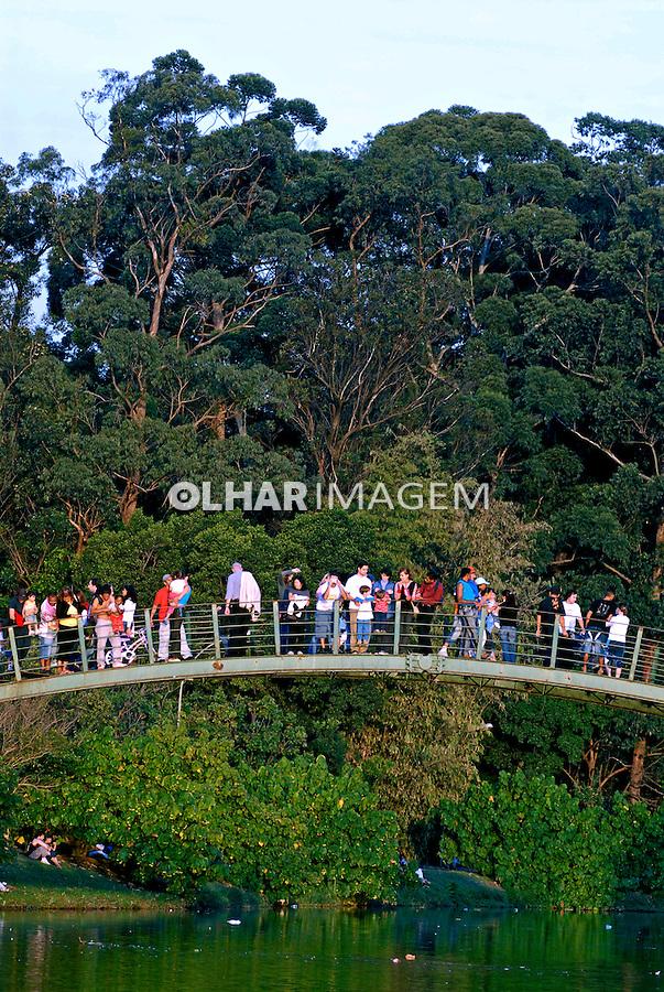 Lago e ponte no Parque do Ibirapuera. São Paulo. 2006. Foto de Juca Martins.