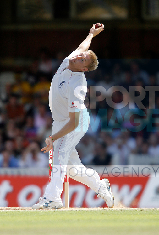 England's Andrew Flintoff puts his body through more pressure