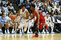 CHAPEL HILL, NC - NOVEMBER 01: Ryan McAdoo #35 of the University of North Carolina drives with the ball during a game between Winston-Salem State University and University of North Carolina at Dean E. Smith Center on November 01, 2019 in Chapel Hill, North Carolina.