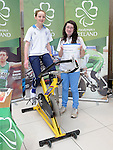 Orla Gallagher and Lucy McManus fundraising for Paralympics Ireland awareness at the Laurence Centre. Photo: Colin Bell/pressphotos.ie