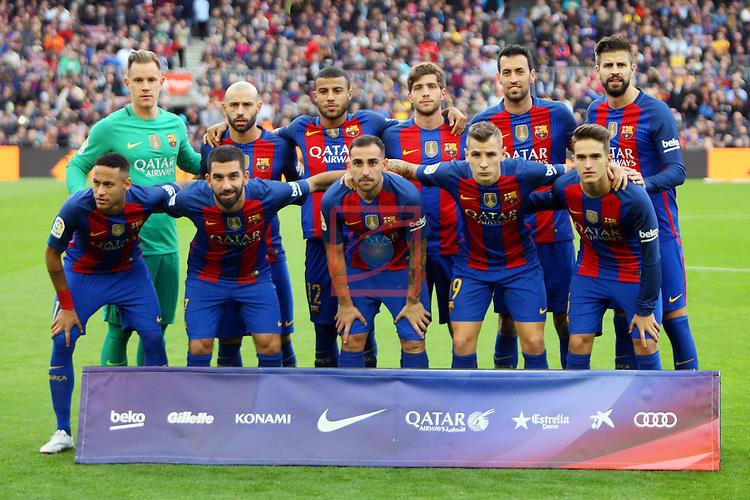 League Santander 2016/2017. Game: 12.<br /> FC Barcelona vs Malaga CF: 0-0.