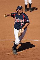 SAN ANTONIO, TX - MARCH 9, 2006: The Texas A&M University Corpus Christi Islanders vs. The University of Texas at San Antonio Roadrunners Softball at Roadrunner Field. (Photo by Jeff Huehn)