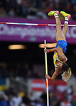 Angelica Bengtsson (SWE) in the womens pole vault. IAAF world athletics championships. London Olympic stadium. Queen Elizabeth Olympic park. Stratford. London. UK. 06/08/2017. ~ MANDATORY CREDIT Garry Bowden/SIPPA - NO UNAUTHORISED USE - +44 7837 394578