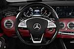 Car pictures of steering wheel view of a 2017 Mercedes Benz S-Class S550 2 Door Convertible Steering Wheel
