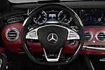 Car pictures of steering wheel view of a 2017 Mercedes Benz S-Class S550 2 Door Convertible Steering Wheel