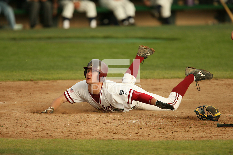 13 February 2007: Sean Ratliff during Stanford's 5-1 exhibition win over Rikkio University at Sunken Diamond in Stanford, CA.