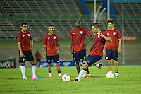 Kingston, Jamaica - Thursday, June 6, 2013: USMNT during USMNT training before the WC qualifying match against Jamaica.