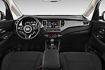 Stock photo of straight dashboard view of a 2014 KIA CARENS Lounge 5 Door Mini MPV 2WD Dashboard