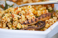 Lunch with octopus with pasta. Wine Art Estate Winery, Microchori, Drama, Macedonia, Greece
