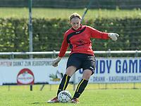 DVK Egem - Club Brugge Dames B :  Egem doelvrouw Virginie Vandemaele <br /> Foto David Catry | VDB | Bart Vandenbroucke