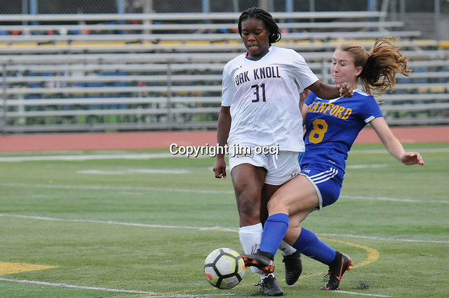 Cranford Girls Varsity Soccer vs Oak Knoll 9/2018
