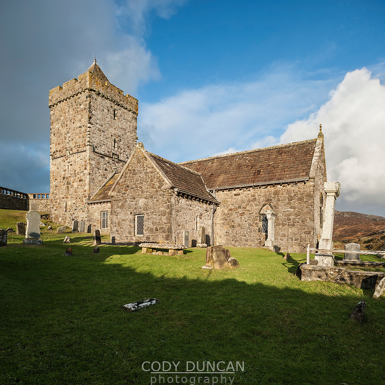 St. Clement's church and cemetery, Isle of Harris, Outer Hebrides, Scotland, UK