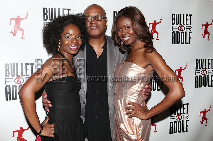 Marsha Stephanie Blake, Co-Writer Frankie Hyman and Shamika Cotton attending the Opening Night Performance After Party for 'Bullet For Adolf' at Hurley's Saloon in New York City on 8/8/2012.