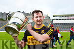 Daithi Casey captain of Dr Crokes after they defeated Kenmare in the  County League final in Fitzgerald Stadium on Sunday