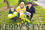 J D Cattigan, Marie Walsh, Carmel O'Connell launch Irish Cancer Society Daffodil Day  in Castleisland on Friday March 28th