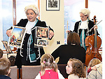 Julie Maisel and Grainne Hope from Kids Classics playing in Ardee library as part of the Baroque Festival. Photo:Colin Bell/pressphotos.ie