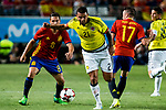 Edwin Cardona of Colombia and Koke Resurrecci?n and Iago Aspas of Spain during the friendly match between Spain and Colombia at Nueva Condomina Stadium in Murcia, jun 07, 2017. Spain. (ALTERPHOTOS/Rodrigo Jimenez)