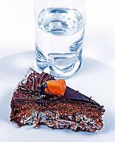 Alimentos doces.Fatia de torta. Foto de Manuel Lourenço.