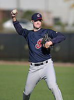 Cleveland Indians minor leaguer Daniel Frega during Spring Training at the Chain of Lakes Complex on March 17, 2007 in Winter Haven, Florida.  (Mike Janes/Four Seam Images)