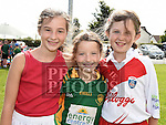 Jessica and Leah Moore and Aisling Geraghty at the Duleek Bellewstown GFC family funday. Photo:Colin Bell/pressphotos.ie