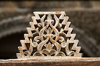 Fes, Morocco.  Medersa Bou Inania.  Carved Wooden Decoration.