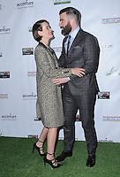 23 February 2017 - Santa Monica, California - Sarah Paulson, Zachary Quinto.  2017 Oscar Wilde Awards held at Bad Robot. Photo Credit: Birdie Thompson/AdMedia