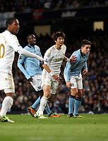 Barclays Premier League, Man City (blue) V Swansea City (white) Etihad Stadium, 27/10812<br /> Pictured: Ki Sung-Yeung<br /> Picture by: Ben Wyeth / Athena Picture Agency
