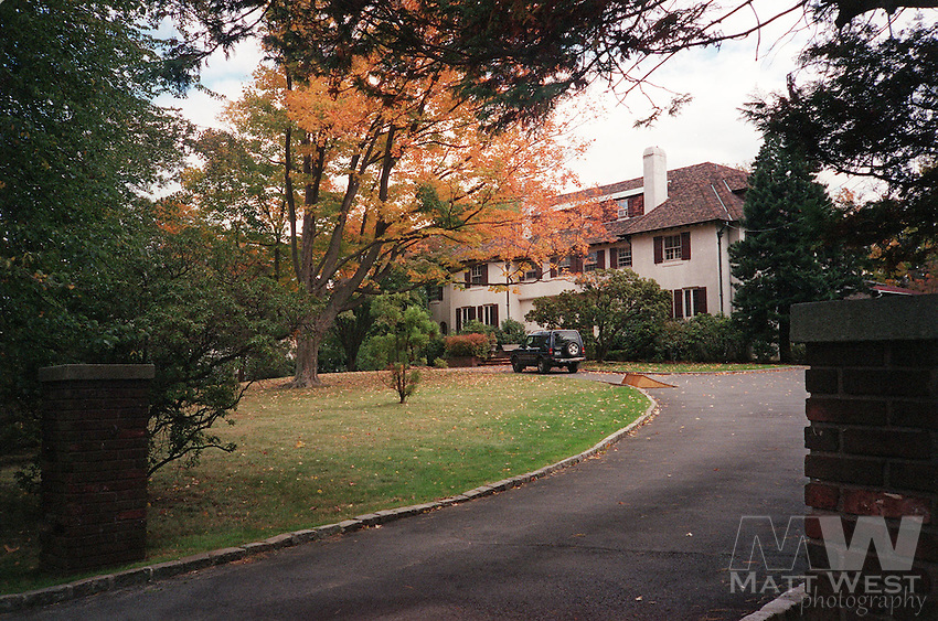 10/23/1998 The Moxley residence in 1975 in Bellehaven section of Greenwich CT. Staff photo by Matt West