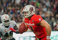 QB Brandon Cornette (Braunschweig Lions) läuft selber - 12.10.2019: German Bowl XLI Braunschweig Lions vs. Schwäbisch Hall Unicorns, Commerzbank Arena Frankfurt