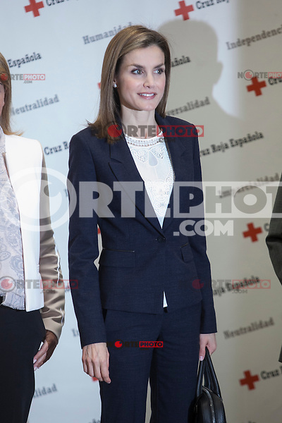 Queen Letizia of Spain attends a Spanish Red Cross working meeting in Madrid, Spain. April 07, 2015. (ALTERPHOTOS/Victor Blanco) /NORTEphoto.com