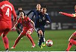 Lee Mi-Na (KOR), Mina Tanaka (JPN),<br /> DECEMBER 8, 2017 - Football / Soccer :<br /> EAFF E-1 Football Championship 2017 Women's Final match between Japan 3-2 South Korea at Fukuda Denshi Arena in Chiba, Japan. (Photo by Takamoto Tokuhara/AFLO)