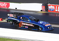 Jul 19, 2020; Clermont, Indiana, USA; NHRA funny car driver Terry Haddock during the Summernationals at Lucas Oil Raceway. Mandatory Credit: Mark J. Rebilas-USA TODAY Sports