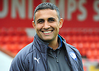 Chesterfield manager Jack Lester before kick off<br /> <br /> Photographer Andrew Vaughan/CameraSport<br /> <br /> The EFL Sky Bet League Two - Lincoln City v Chesterfield - Saturday 7th October 2017 - Sincil Bank - Lincoln<br /> <br /> World Copyright &copy; 2017 CameraSport. All rights reserved. 43 Linden Ave. Countesthorpe. Leicester. England. LE8 5PG - Tel: +44 (0) 116 277 4147 - admin@camerasport.com - www.camerasport.com