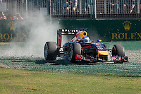 March 14, 2014: Sebastian Vettel (DEU) from the Infiniti Red Bull Racing team runs off turn one during practice session two at the 2014 Australian Formula One Grand Prix at Albert Park, Melbourne, Australia. Photo Sydney Low.