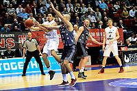 GRONINGEN - Basketbal, Donar - Cluj ,  Europe League, seizoen 2017-2018, 24-01-2018,  Donar speler Sean Cunningham met Cluj  speler  Zeijko Sakic