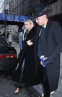NEW YORK, NY - January 07: Ashlee Simpson and  Evan Ross seen exiting Good Day NY in New York City on January 07, 2019. <br /> CAP/MPI/RW<br /> ©RW/MPI/Capital Pictures